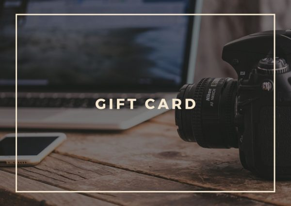 Photography lesson gift card